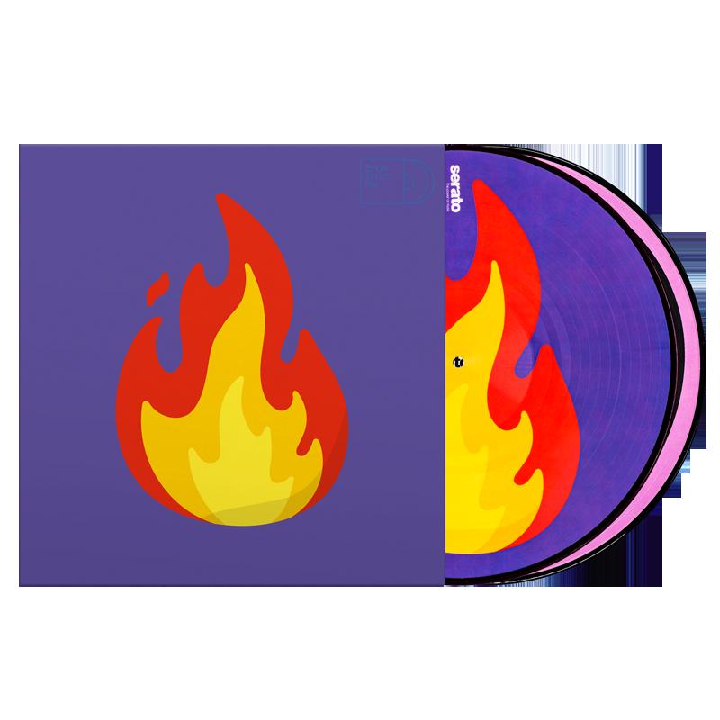 """Serato 2 X 12"""" Emoji Series #2 Flame/Record"""
