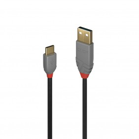 Lindy USB 2.0 C Male auf A Male Kabel 2 Meter